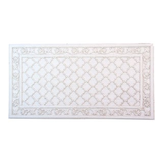 Spectacular Antique White Carved Ceiling Panel For Sale