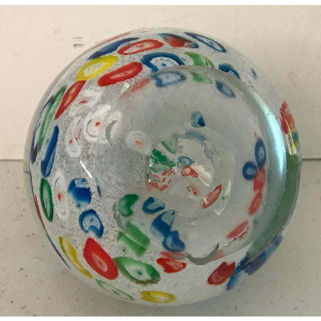 Italian Vintage Italian Millefiori Glass Paperweight For Sale - Image 3 of 4