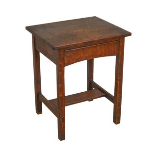 Limbert Antique Arts & Crafts Mission Oak Small Desk For Sale