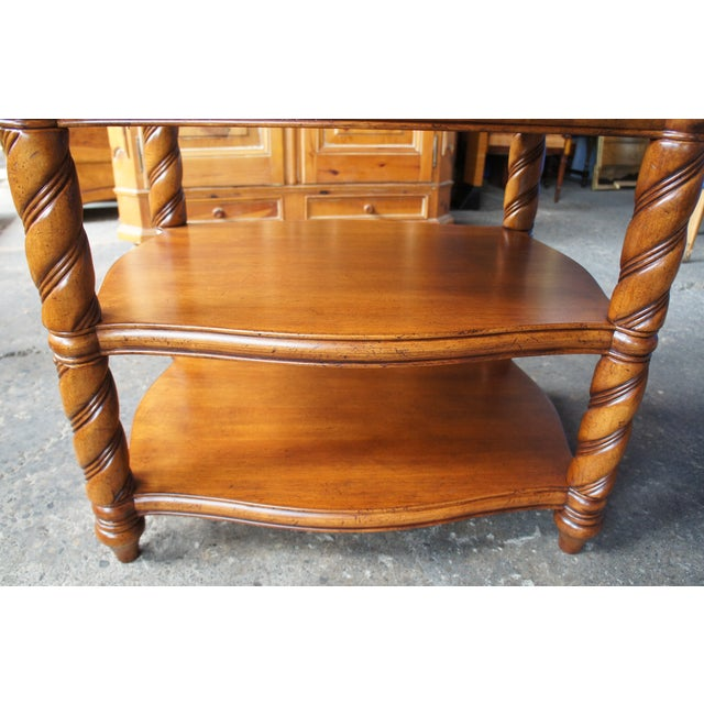Tan Traditional Thomasville British Gentry 3 Tier Side Table For Sale - Image 8 of 13