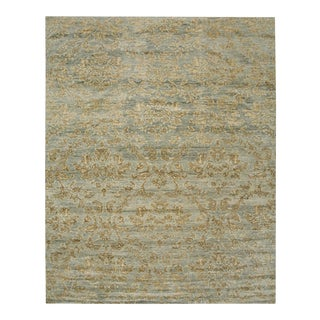 Mandala Collection - Customizable Gold Leaf Rug (8x10) For Sale