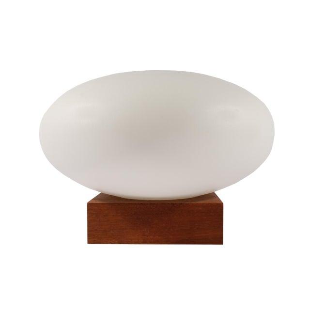 Mid Century Modern Table Lamp With Teak Wood Base Chairish