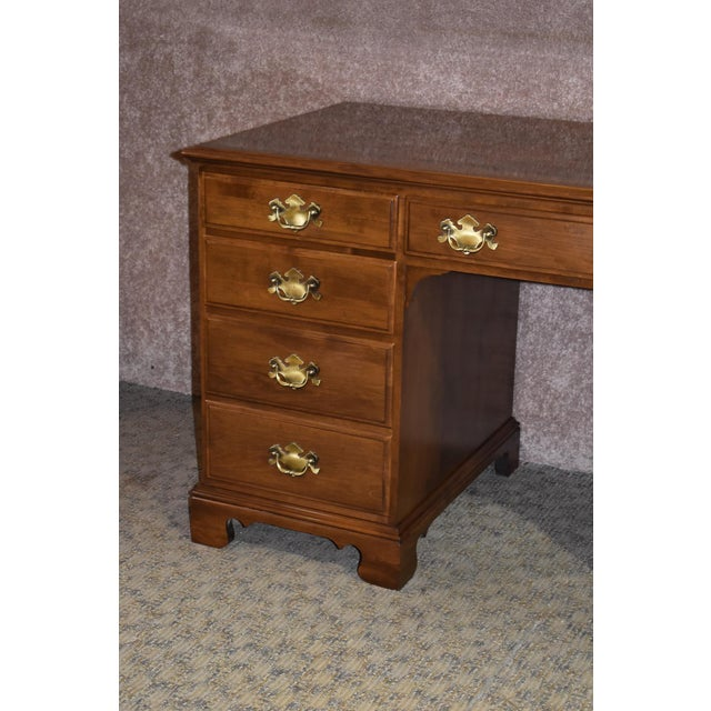 Wood 1960s Early American Ethan Allen Executive Desk For Sale - Image 7 of 12
