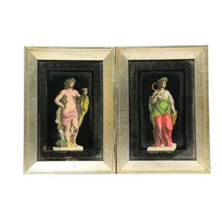 Hollywood Regency Frammed Romans - Pair