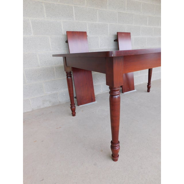 Red Tom Seely Solid Cherry Country Style Dining Table For Sale - Image 8 of 11