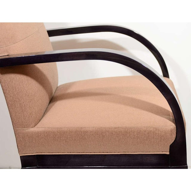 Modernist Dining Chair with Bent Arm Design For Sale In New York - Image 6 of 8