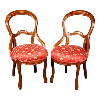"Victorian Ladies ""Balloon"" Chairs - A Pair For Sale"
