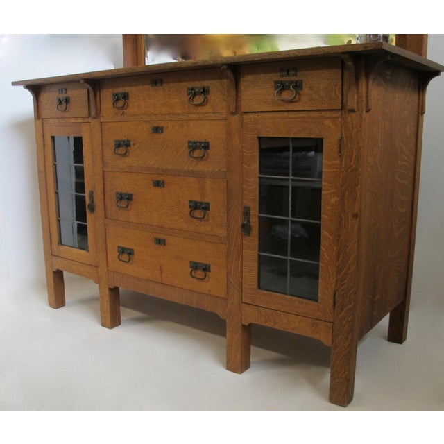 Arts & Crafts Arts & Crafts Mission Oak Sideboard Buffet For Sale - Image 3 of 7