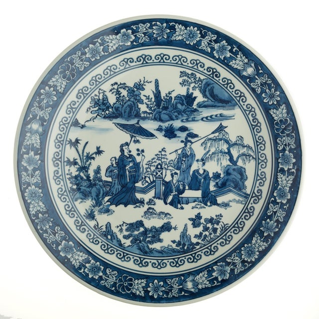 White Chinese Tozai Home Blue & White Bowl For Sale - Image 8 of 8