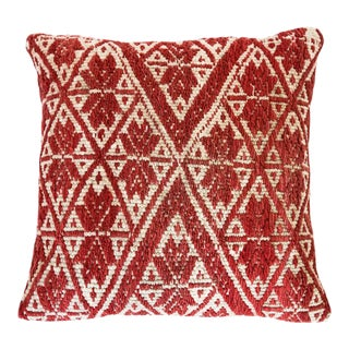 "Red Peruvian Pillow 20"" X 20"" For Sale"