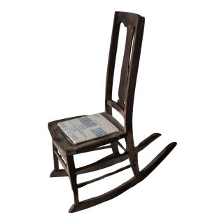 Antique Sewing Nursing Rocking Chair For Sale