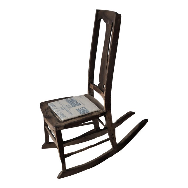 Antique Sewing Nursing Rocking Chair - Image 1 of 8 - Antique Sewing Nursing Rocking Chair Chairish