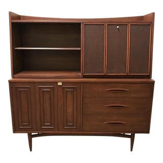1960s Mid Century Modern Broyhill Sculptra Credenza/Sideboard With Removable Hutch/Bar For Sale