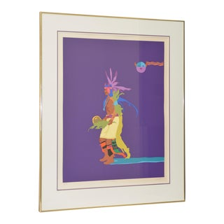 "John Nieto ""Indian Drum Dancer"" Original Serigraph Signed and Numbered c.1990"