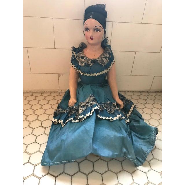1920s Vintage Spanish Senorita Handmade Boudoir Doll For Sale - Image 5 of 11