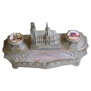 1930s French Iconic Historic Sites Inkwell