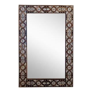 Moroccan Rectangular Modern Traditional Chic Mirror For Sale