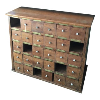 1950's Vintage Apothecary Style Cabinet For Sale