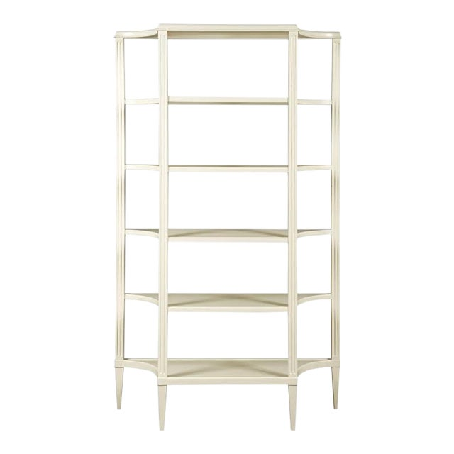 Modern White 5 Tier Etagere For Sale