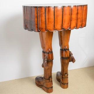 Fabulous & Sculptural Scotsman Kilt & Leg Table, 20th Century Preview