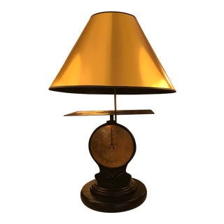 Vintage Restored Scale Turned Lamp For Sale