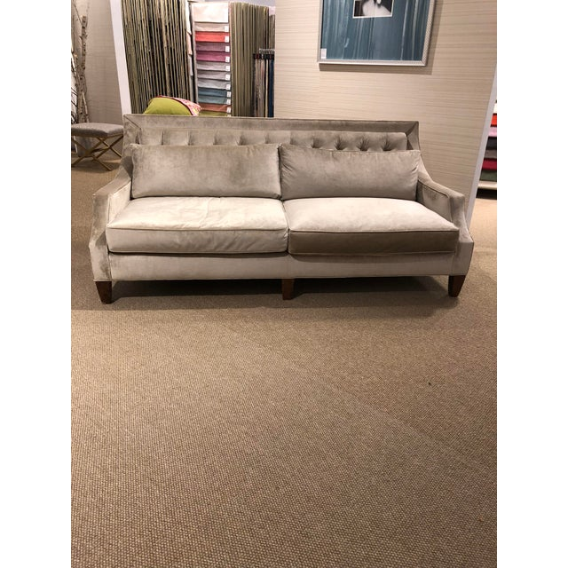 Kingston Transitional Scalamandre Velvet Upholstered Sofa For Sale - Image 12 of 12