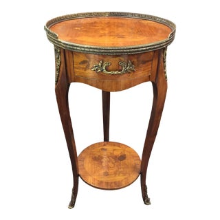 Inlaid Italian Style Table Marquetry Decoration For Sale