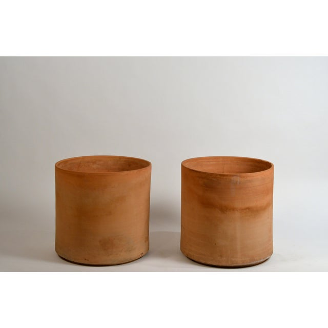 Large Unglazed Architectural Terracotta Planters by Gainey Ceramics - a Pair For Sale - Image 10 of 10