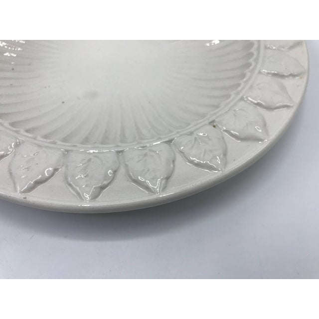 Mid 20th Century 1970s Italian Ceramic Plate With Floral Motif Sculpture For Sale - Image 5 of 9