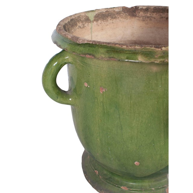 Toulouse Green Provencal Pot For Sale - Image 4 of 5