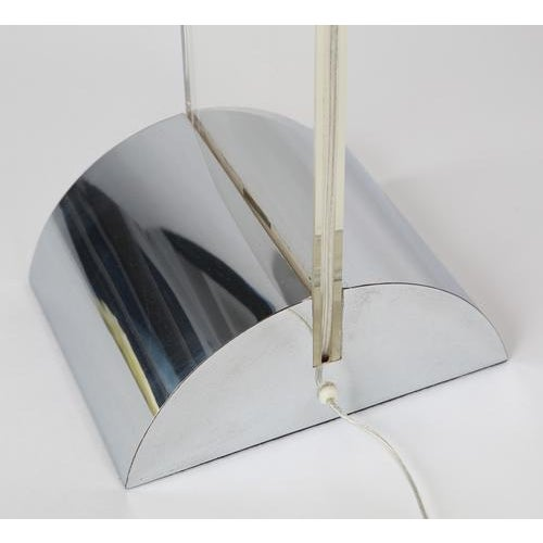 George Kovacs GEORGE KOVACS POLISHED CHROME AND LUCITE TABLE LAMP, CIRCA 1970S For Sale - Image 4 of 8