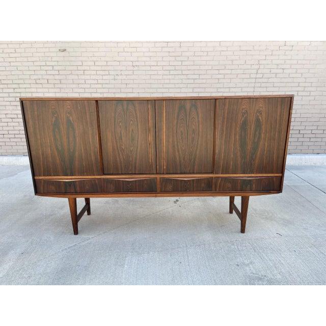 Arne Vodder Style Rosewood Highboard For Sale - Image 11 of 11