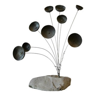 Bronze Kinetic Chime Sculpture For Sale