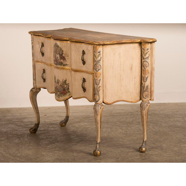 Mid 18th Century Antique Italian Baroque Painted Two Drawer Chest, circa 1750 For Sale - Image 5 of 11
