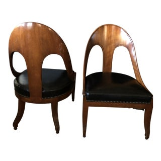 Michael Taylor for Baker Furniture Neoclassic/ Biedermeier Chairs - a Pair