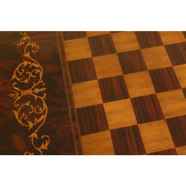 Maitland - Smith Maitland Smith Inlaid Walnut Games Table Top Occasional Table For Sale - Image 4 of 11