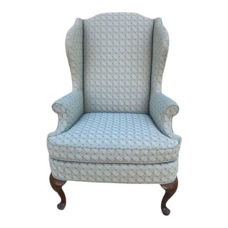 Drexel Queen Anne Style Wingback Chair For Sale