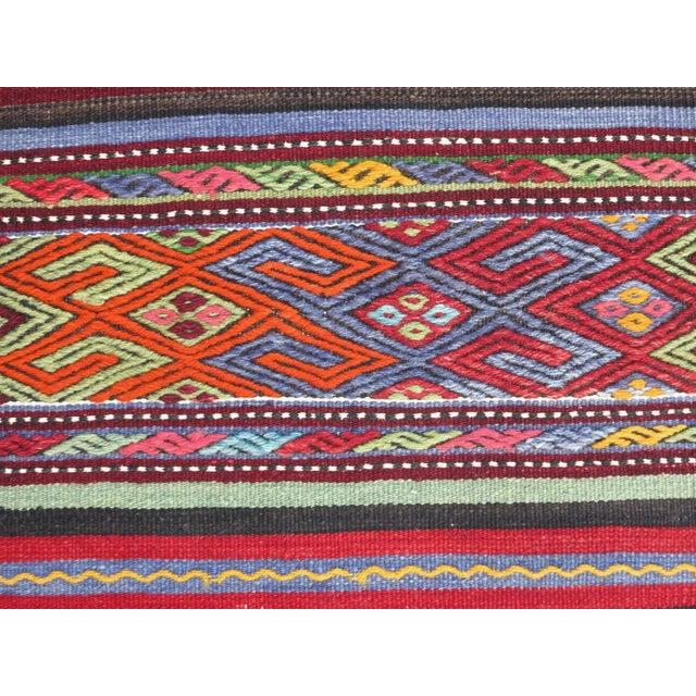 "Vintage Turkish Kilim Rug-2'2'x4'2"" For Sale - Image 11 of 13"