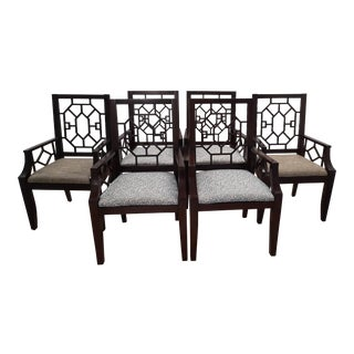 Chinese Chippendale Armchairs, Set of 6 For Sale