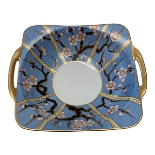 Vintage Hand Painted China Cherry Blossom Bowl For Sale