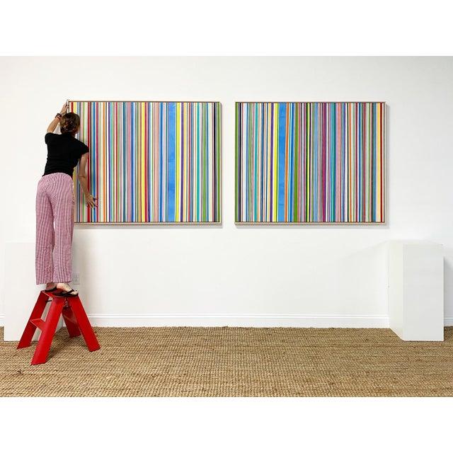 """Exclusive John O'Hara """"Sardinia, 4"""" Encaustic Paintings (2-Panel) For Sale In Saint Louis - Image 6 of 10"""