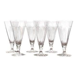 Vintage Cut Crystal Tall Beverage Glasses - Set of 6 For Sale