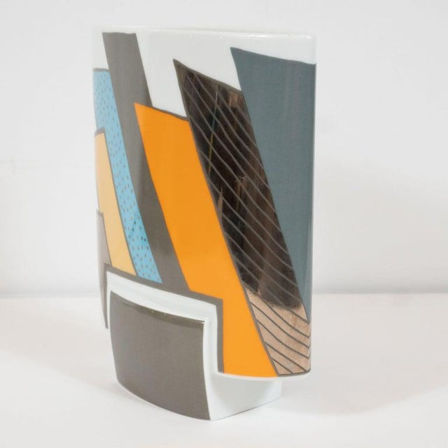 Mid-Century Porcelain Vase by Michael Boehm & Rosemonde Nairac for Rosenthal For Sale In New York - Image 6 of 11