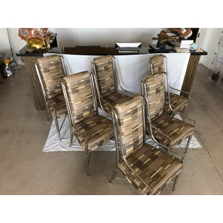 1960s Vintage Nickel Faux Bamboo Mastercraft Dining Chairs-Set of 6 Preview