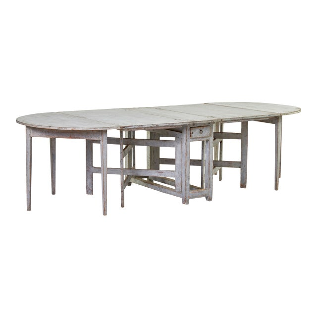 Early 19th Century Antique Swedish Dining Table For Sale