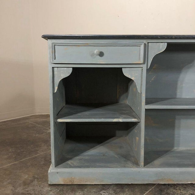19th Century Painted Store Counter For Sale In Dallas - Image 6 of 9