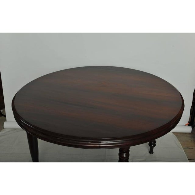 Late 19th Century British Campaign Rosewood Round Dining Table For Sale - Image 4 of 9
