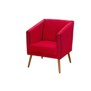 Modern Red Malibu Armchair For Sale