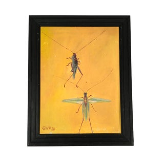 1936 Painting of Grasshoppers For Sale