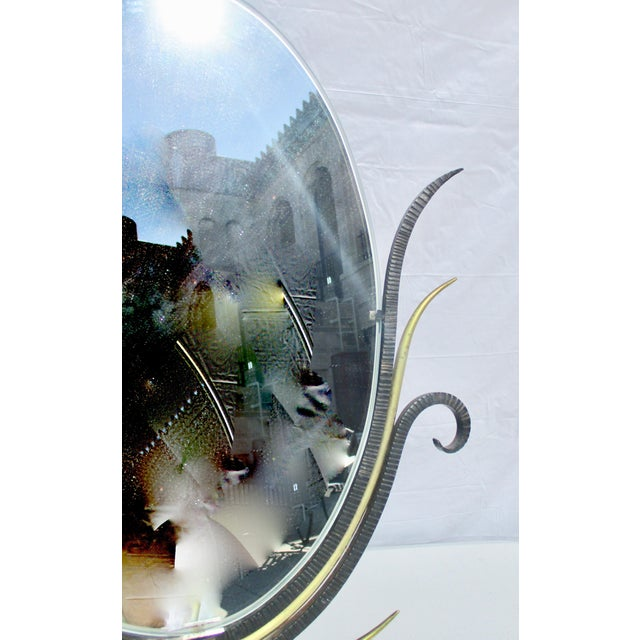 Gilbert Poillerat Gilbert Poillerat Style Table Top Mirror For Sale - Image 4 of 9